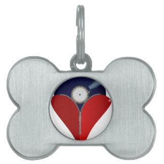 Love Music Zipper Heart Pet Tag
