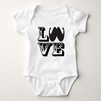 LOVE Mustache Baby Bodysuit
