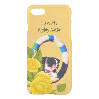 Love My Agility Australian Shepherd, Yellow Roses iPhone 7 Case