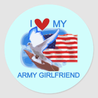 Love My Army Girlfriend T-shirts and Gifts Sticker