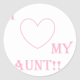 love my aunt stickers