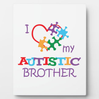 LOVE MY AUTISTIC BROTHER PHOTO PLAQUES