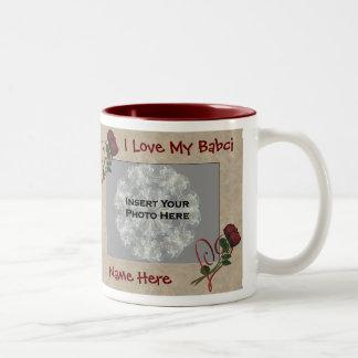 Love My Babci Roses Polish Grandmother Mug