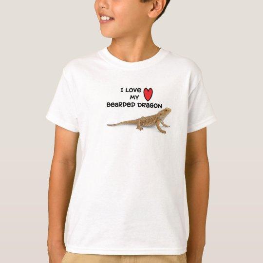 Love My Bearded Dragon Tee shirts