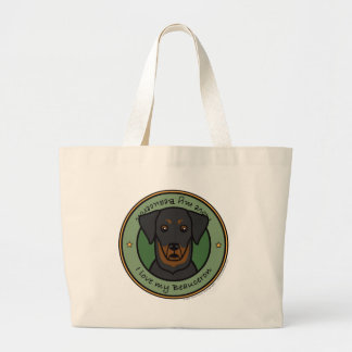 Love My Beauceron Large Tote Bag