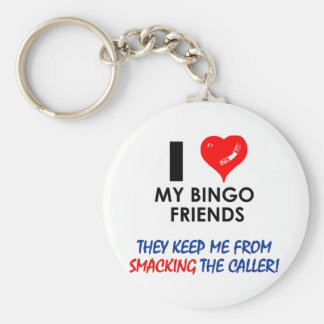 Love my Bingo Friends! Key Ring