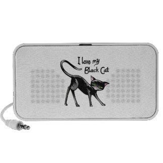 LOVE MY BLACK CAT MP3 SPEAKERS