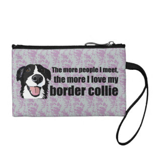 Love my border collie coin purse