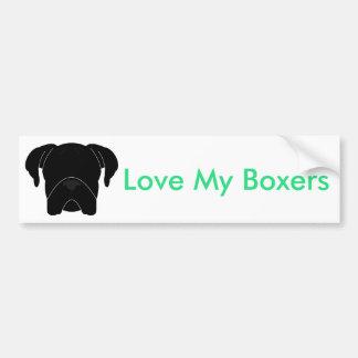 Love My Boxers Bumper Sticker