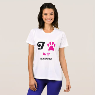 Love My Bulldog Paw T-Shirt