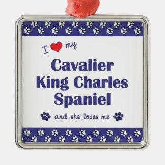 Love My Cavalier King Charles Spaniel (Female Dog) Ornament