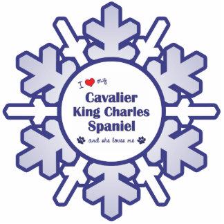 Love My Cavalier King Charles Spaniel (Female Dog) Photo Sculpture Decoration
