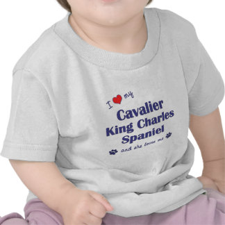 Love My Cavalier King Charles Spaniel (Female Dog) Tshirt