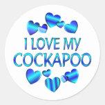 Love My Cockapoo Classic Round Sticker