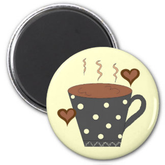 Love my Coffee... 6 Cm Round Magnet