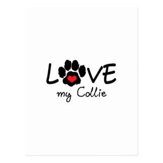 LOVE MY COLLIE POSTCARD