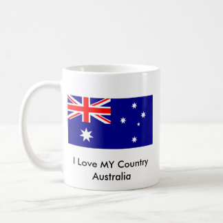 Love MY Country Australia Flag jGibney The MUSEUM Basic White Mug