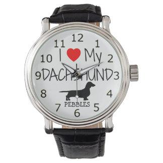 Love My Dachshund Wrist Watch