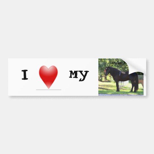 Love my Dales Pony bumpersticker Bumper Sticker
