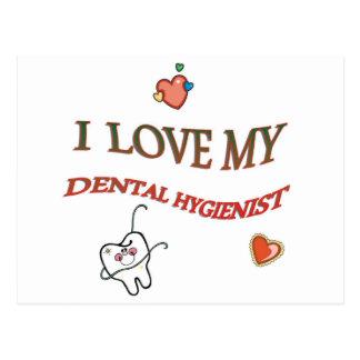 Love My Dental Hygienist Postcard