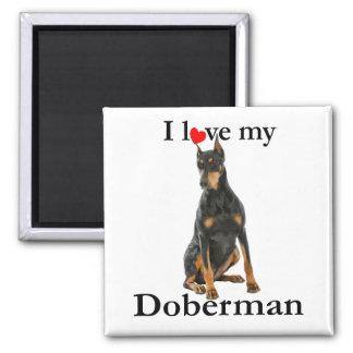 Love My Doberman Magnet