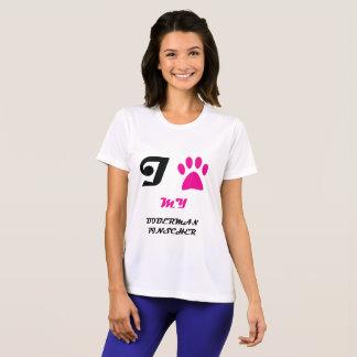 Love My Doberman Pinscher Paw T-Shirt