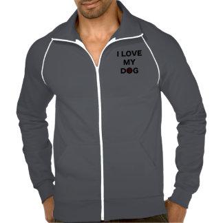 Love My Dog Fleece Track Jacket Jacket