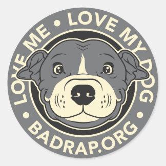 Love My Dog Round Sticker