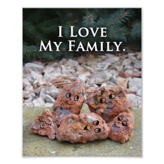 Love My Family Silly Unique Photo Quote Print