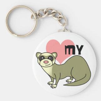 Love My Ferret Key Ring