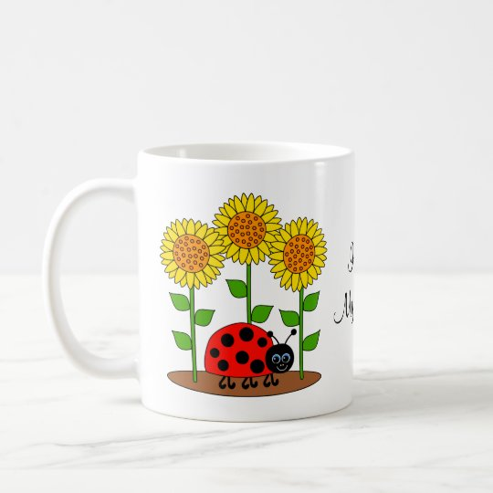 Love My Garden Ladybug with Sunflowers Coffee Mug