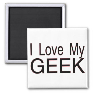 Love My Geek Square Magnet