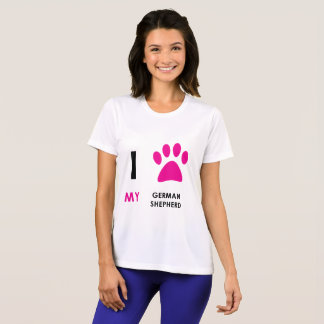 Love My German Shepherd Paw T-Shirt