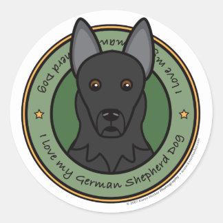 Love My German Shepherd Round Sticker