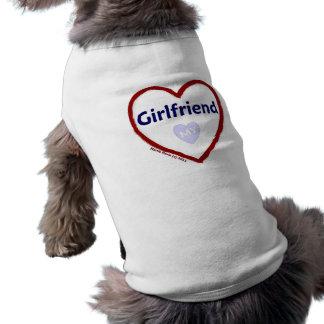 Love My Girlfriend Sleeveless Dog Shirt