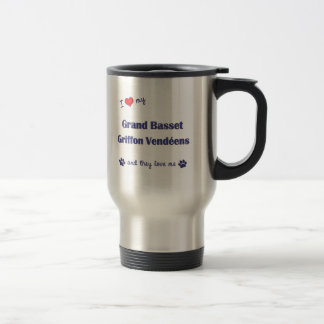 Love My Grand Basset Griffon Vendeens (Multi Dogs) Travel Mug