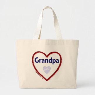 Love My Grandpa Jumbo Tote Bag