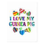 Love My Guinea Pig Postcards