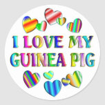 Love My Guinea Pig Round Sticker