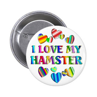 Love My Hamster 6 Cm Round Badge
