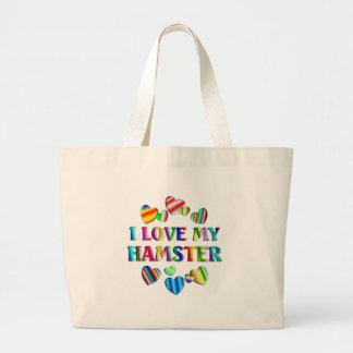 Love My Hamster Large Tote Bag