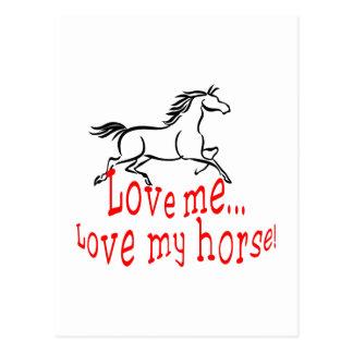 Love My Horse Postcard