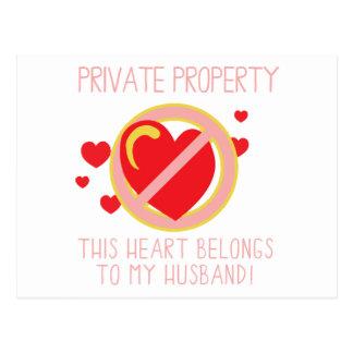 Love My Husband Postcard