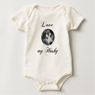 love my husky baby bodysuit