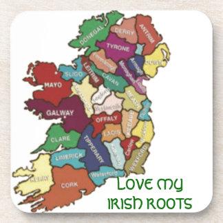 LOVE MY  IRISH ROOTS DRINK COASTER