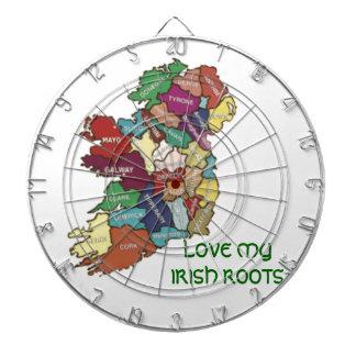 LOVE MY  IRISH ROOTS DARTBOARD