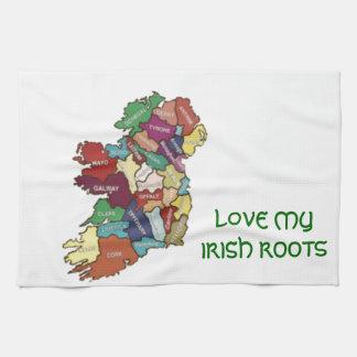 LOVE MY  IRISH ROOTS TEA TOWEL