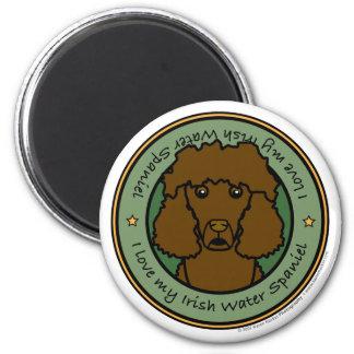 Love My Irish Water Spaniel 6 Cm Round Magnet