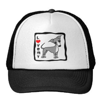 Love My Italian Greyhound - Grey Cap