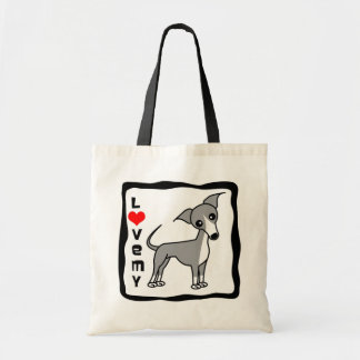 Love My Italian Greyhound - Grey Tote Bag